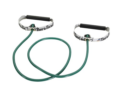 """Thera-Band Exercise Tubing Kit with PVC Handles - 48"""" - Green Heavy"""