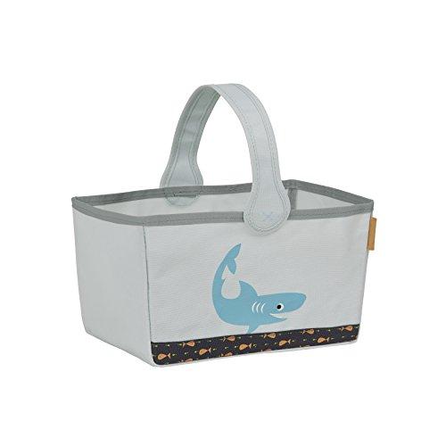 LÄSSIG Kinder Baby Aufbewahrungstasche Wickelkommode Wickeln Kinderzimmer/Nursery Caddy Shark ocean