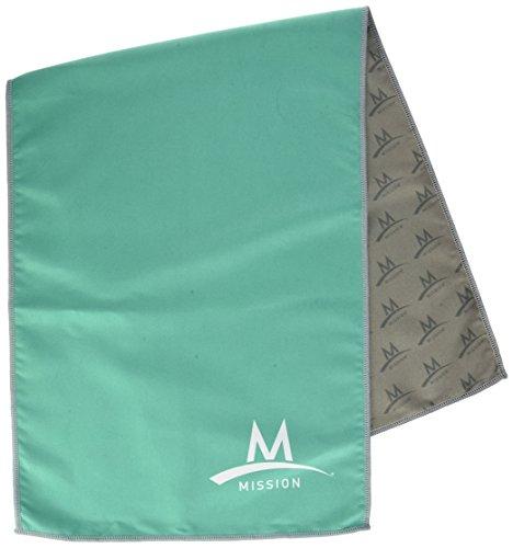MISSION Microfibre Towel Serviette, Homme L Mint New