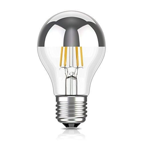 ledscom.de Espejo de cabeza E27 Filamento de lámpara LED A60 4W =29W blanco cálido 300lm A+ para uso en interiores y exteriores