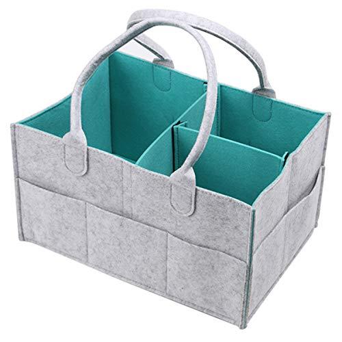YOFASEN Cosas De Bebe Organizador Pañales,Lavable Y Portátil, Utilizado Para El Hogar, Automóvil, Viajes,Verde/33 * 23 * 18.5Cm