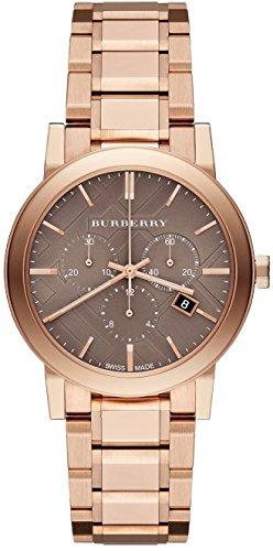 Swiss Burberry Top Luxus Armbanduhr Chronograph Unisex Damen Herren The City 38 mm Roségold BU9754