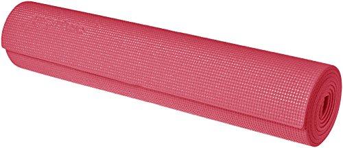 Amazon Basics - Alfombrilla para yoga y ejercicios, con correa de transporte, 0,63 cm, Rosa