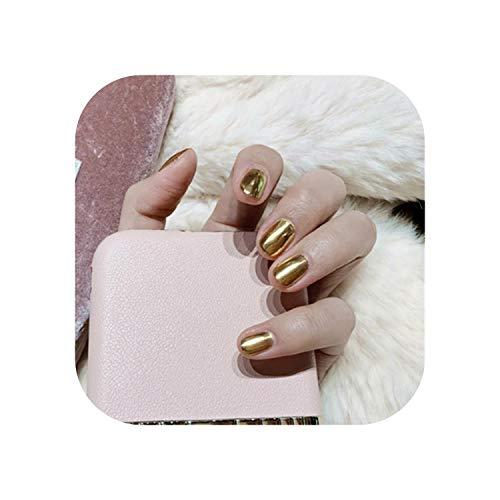 24PCS Gold Glitter gefälschte Nägel mit Kleber Falsche Nägel mit Designs Nagelspitzen Französische falsche Nägel DIY Nail Art Manicure Tool 2020-
