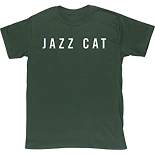 Hippowarehouse Jazz cat Unisex Short Sleeve t-Shirt (Specific Size Guide in Description):Comoparardefumar