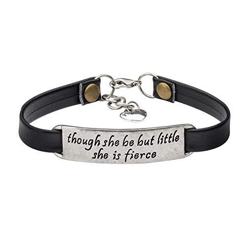 UNQJRY Inspirational Vintage Stretch Leather Bracelet for Women Teens Engraved OrnamentJewelry Gift