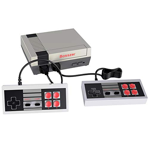 Bosszer 620 Retro Game Console, AV Output Mini NES Console Built-in Hundreds of Classic Video Games System