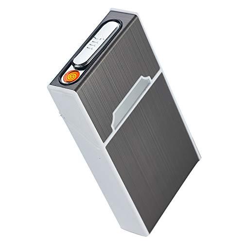タバコケース 電子ライター USB充電式 たばこケース 2イン1 シガレットケース 20本100mmまたは115mmの細煙 防風 防水 小型 携帯便利