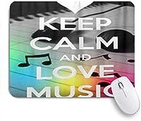 VAMIX マウスパッド 個性的 おしゃれ 柔軟 かわいい ゴム製裏面 ゲーミングマウスパッド PC ノートパソコン オフィス用 デスクマット 滑り止め 耐久性が良い おもしろいパターン (ファッションは穏やかな愛の音楽を保つ)