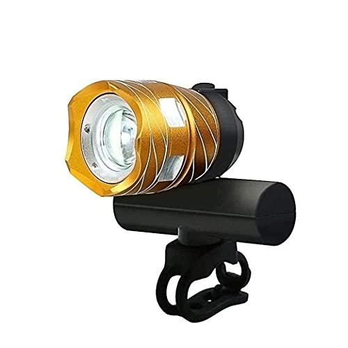 XIXIDIAN Grupo de luz de Bicicleta súper Brillante Recargable USB Recargable, IP-65 Impermeable, Modos de iluminación Ajustables, Luces de Ciclismo para Carretera y montaña