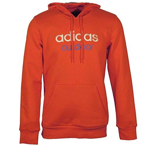 adidas Outdoor Hoodie Pullover für Herren, Größe:M;Farbe:Orange