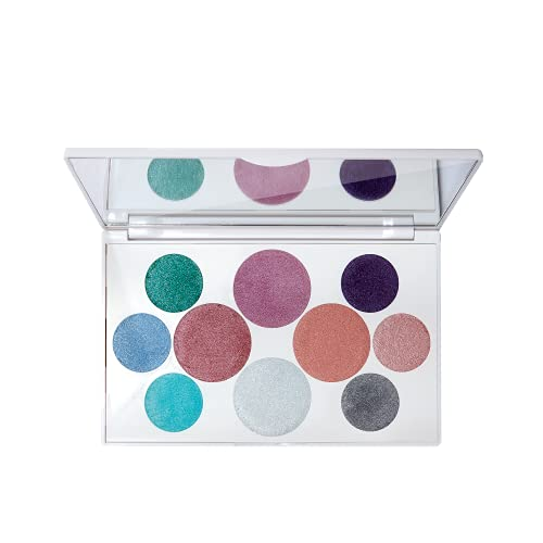 Crayola Beauty - Eyeshadow Palette - 10 Creamy Matte & Metallic Shades - Long-lasting, Blendable, Highly Pigmented Color, Velvety Finish - Talc Free Formula & Vegan Friendly - Mermaid - 0.63 Ounce
