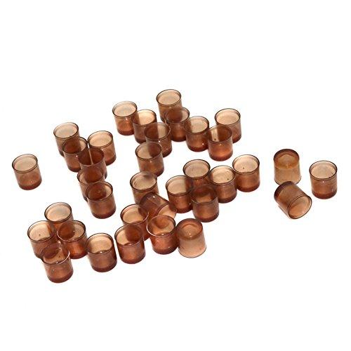 adhere to Fly Marron 240 pcs plastique Reine des Abeilles Cup Fertilité Cell Cup d'incubation d'élevage