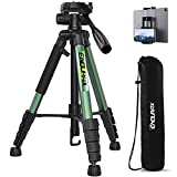 Endurax 66 Video Camera Tripod Compatible with Nikon Canon, Tall Tripods for All Digital Cameras with Universal Phone Mount and Carry Bag
