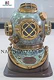 NauticalMart Brass Scuba Diving Divers Helmet U.S Navy Mark V Vintage