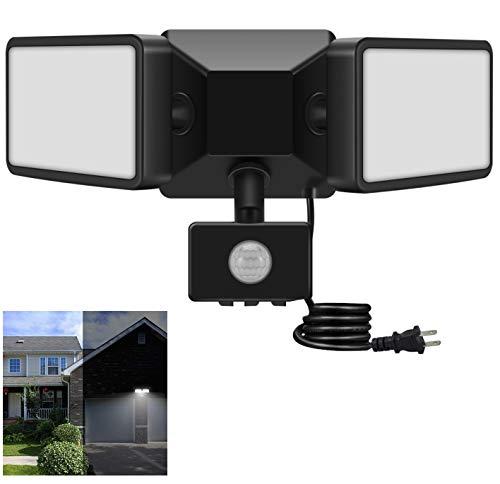 LED Motion Sensor Outdoor Light, JUOYOU 20W(200W Equiv.) Super Bright LED Flood Light, Adjustable & Wide Lighting Area LED Security Lights, 2200LM, 6500K, IP65 Waterproof, for Yard Porch Garage