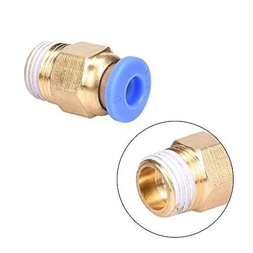 Accessori per parti di stampanti 3D Connettori pneumatici V5 1.75MM / 3.0MM Estrusore Bowden Testa termica Testa a J Alimentazione remota per tubi in PTFE Parti della stampante 3D (Dimensioni: 1.75mm