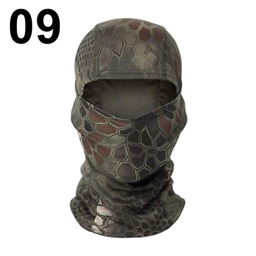 AYUYU Military Cap Full Face Scarf Riding Collar Warm War Game Ski Sports Tactical Scarf Men's Camouflage Headscarf (Color : Python Mountain)