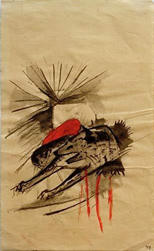 Art-Galerie Digitaldruck/Poster Franz Marc - Liegende Hyäne (Liegender Wolf) - 40 x 64.8cm - Premiumqualität - Made in Germany
