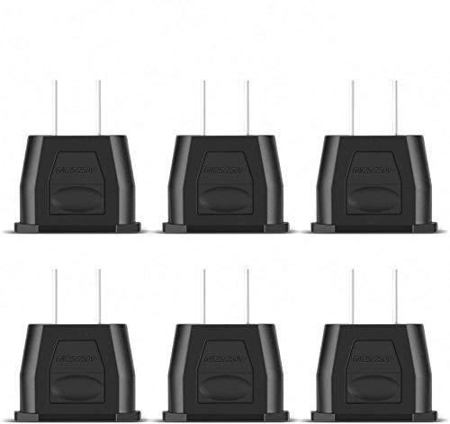 Canada Mexique Noir Incutex 6X adaptateurs USA Adaptateur Etats-Unis Adaptateur EU USA Type A US Adapter