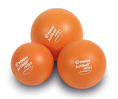 Togu Actiball Relax 3er-Set Faszienmassageball, orange, S 6 cm,M 8 cm, L 12 cm Durchmesser