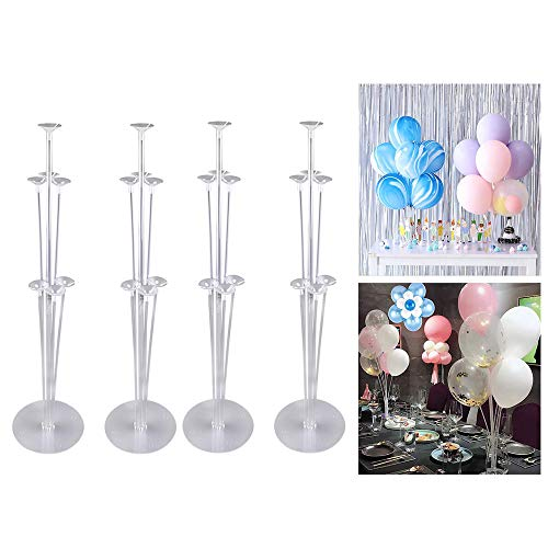 Balloon Arch Kit,3 Roll 16 Feet Balloons Garland Strips Tapes and Ballon Accessoires 300 Glue Point Stickers for Party,Birthday Party Decoration,Wedding. (Balloon Stand)