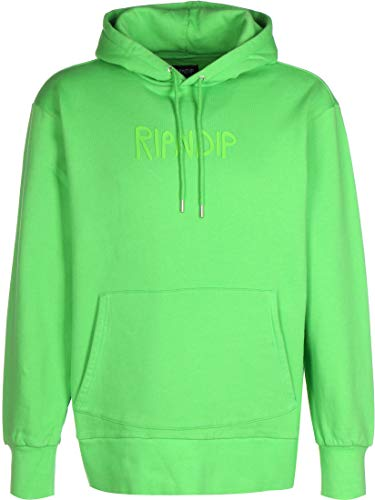 Rip N Dip Rubber Logo Sweat à Capuche Lime Green