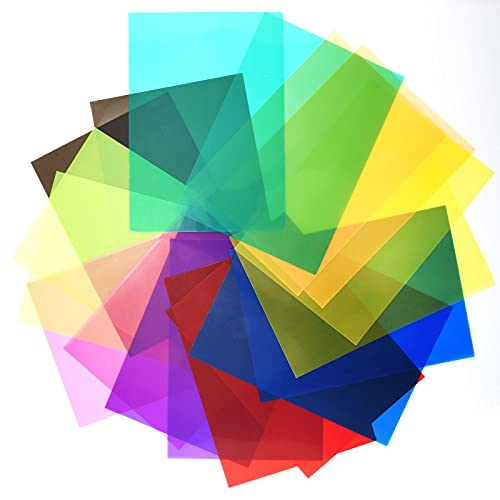tao pipe 18 filtros de gel de color transparentes para estudio fotográfico estroboscópico LED