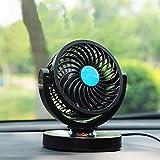 otoez Car Fan 12V Car Cooling Fan Vehicle Air Fan 360 Degree Adjustable 2 Speeds Plugs into Cigarette Lighter Low Noise Dashboard Cooling Air Fan for Car Truck Van SUV RV Boat Home Office