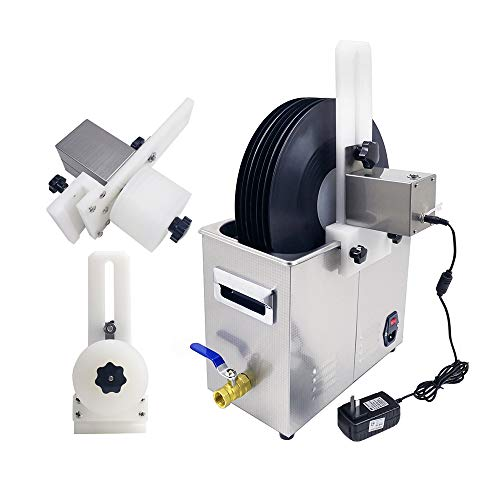 ETE ETMATE Digitaler Ultraschallreiniger mit anhebendem Schallplattenhalter mit digitaler Zeitschaltuhr und Heizung für Schmuckbrillen, zahnärztliche Instrumente und gewerbliche Ultraschallreiniger