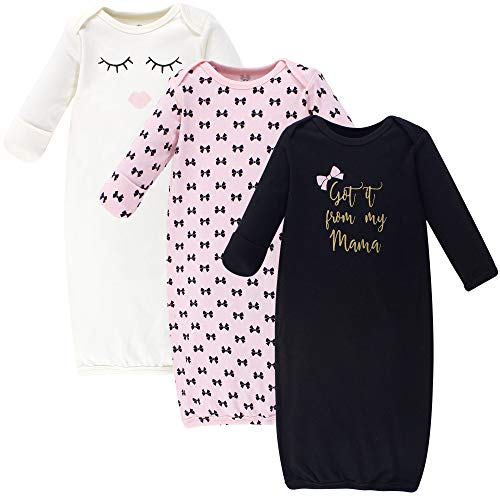 Little Treasure Unisex Baby Cotton Gowns, Mama, 0-6 Months