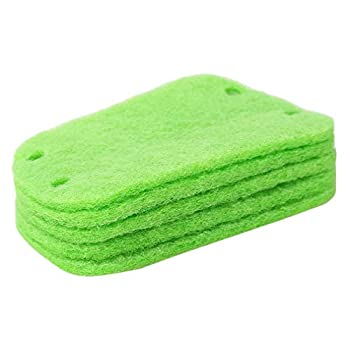 TraveT 5pcs Scouring Pads Heavy Duty Household Cleaning Scrubber with Non-Scratch Reusable Scour Pads,Green