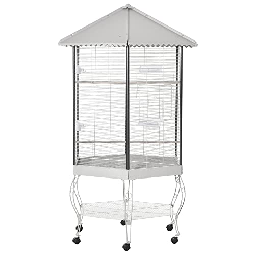 PawHut 44' Hexagon Covered Canopy Portable...