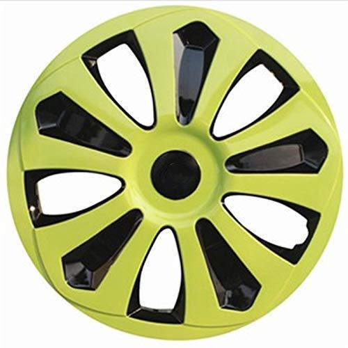 WNN-URG Tipo de Rueda de Las Ruedas 4pcs Compatible con Las Cubiertas de Ruedas de 13/14/15 Pulgadas Piezas de modificación de automóviles URG (Color : Green, Size : 15)