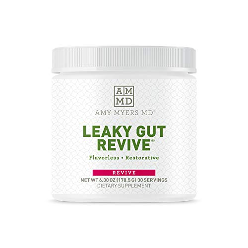 Dr. Amy Myers Leaky Gut Revive Powder for Leaky Gut Repair – L Glutamine Powder to Reduce Symptoms Like Constipation, IBS, Diarrhea, Bloating – Plant Based Supplement to Maintain A Healthy Gut Lining