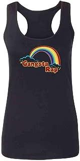 Gangsta Rap Retro Rainbow Funny Music Fashion Tank Top Tee for Women
