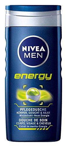 Nivea Men Energy Duschgel für Körper, Gesicht und Haar, 2er Pack (2 x 250 ml)