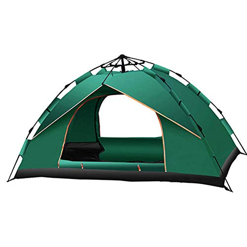 COOLLL Shower Tents for Camping,Double Layer Dome Tent, Pop Up Tents for 3 To 4 Person Automatic Opening Double Layer Tent,Waterproof Camping Tents with Porch for Hiking Camping Outdoor,Gree