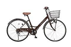 voldy.collection 自転車 26インチ折りたたみシティサイクル VFC-001 ブラウン