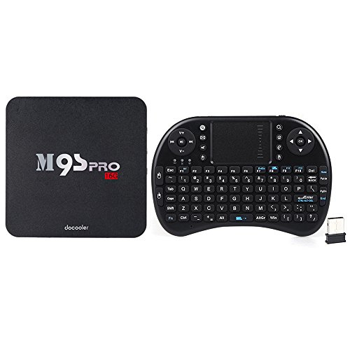 docooler m9s-pro 6.0 Android Smart TV Box Amlogic S905 X Quad Core 64 bits UHD 4 K 2 G/16 G Mini PC WIFI H.265 DLNA miracast W/Teclado QWERTY inalámbrico de 2,4 G ratón touchpad