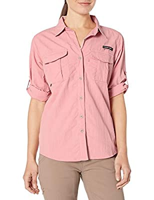 Little Donkey Andy Women's UPF 50+ UV Protection Shirt, Long Sleeve Fishing Shirt, Breathable and Fast Dry Pink XS