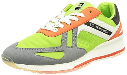 SCOTCH & SODA FOOTWEAR VIVEX, Zapatillas Hombre, Green Multi, 42 EU