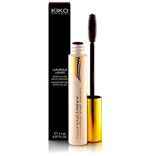 KIKO Black Mascara Luxurious Lashes Extra Volume Brush by Kiko