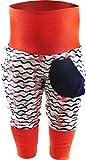 KLEINER FRATZ Baby Kinder Pumphose Hose Mädchen Babyhose Jungen Pants (110-122, Anker rosa/Welle Navy/Bund orange)