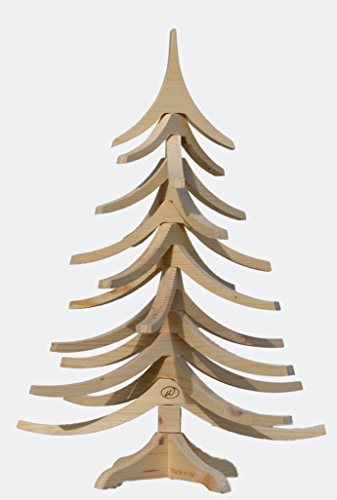 Albert AL50NTR Árbol de Navidad de Madera Natural 35x 50cm