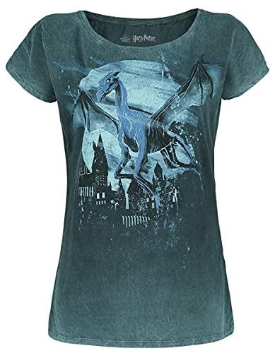 Harry Potter Thestral - Shadow Frauen T-Shirt Petrol M 100{747d5da660a856f24dc19f30cc81df2349216cfa7a2cb12d7b0f0b2e83239222} Baumwolle Fan-Merch, Filme, Hogwarts