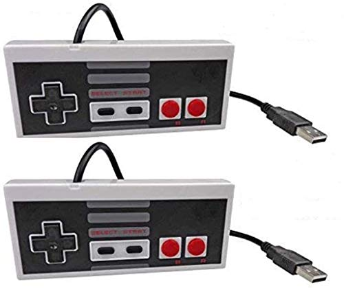 Exquisito Controlador con Cable USB para NES Gaming, Juego Pad Joystick Raspberry Pi Gamepad para Windows PC Mac Linux Retrapie NES Emulators Durable (Color : 2 Gray)
