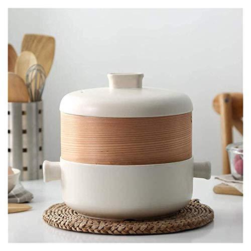 WNN - URG - Cazuela de sopa marroquí con forma de cono esmaltado de tajín de 23,5 cm de diámetro para 1 – 2 personas, maceta de arcilla hecha a mano WNN-URG (color: blanco, tamaño: 2,5 L)
