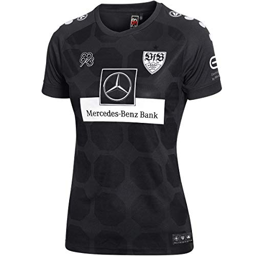 JAKO Damen VfB Stuttgart Ausweich Trikot, schwarz, 44