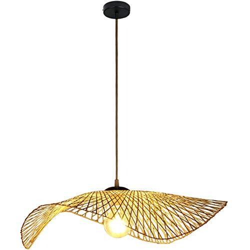 STH Araña de bambú Hecha a Mano, lámpara de Techo de bambú, Restaurante Tejido con sombrilla de Mimbre de Mimbre, decoración del hogar, decoración, cafetería, iluminación interiorSTH